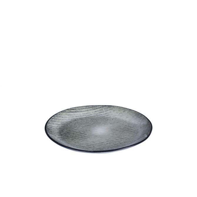 Broste Nordic Sea Frühstücksteller Vorspeisen- u Kuchenteller 20 cm blau grau. Dessertteller, Brotteller. Keramik - Steingut. Skandinavisches Geschirr für den gedeckten Tisch bei nicenordic.de