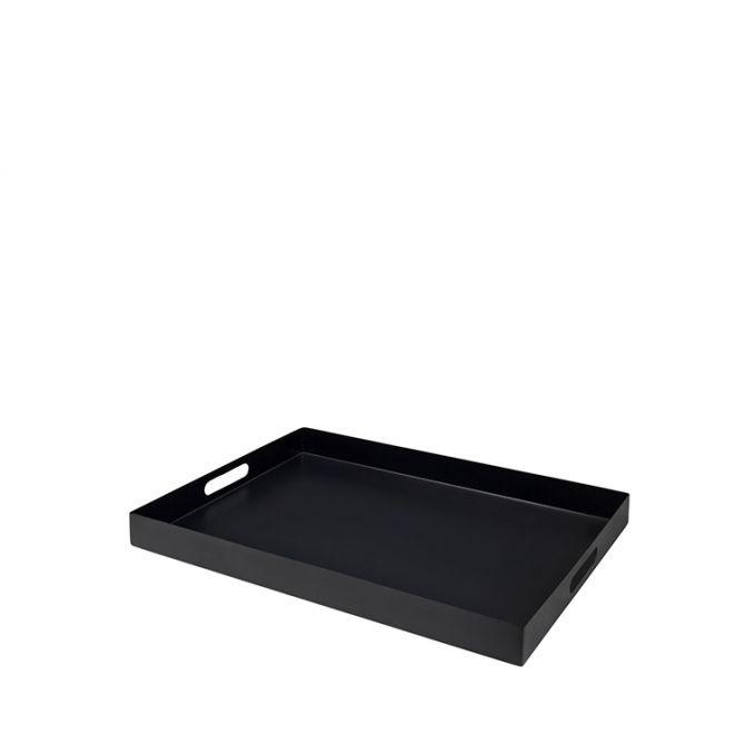 Broste Copenhagen Tablett Satu Schwarz Metall. Serviertablett aus Eisen, 30 x 40 cm. Tischdekoration und Küchenutensilien bei nicenordic.de