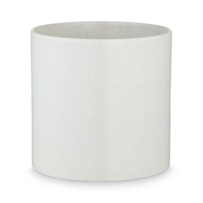 H. Skjalm P. Blumentopf Oslo Weiss Keramik 18 cm Übertopf mit reaktiver Glasur bei nicenordic.de