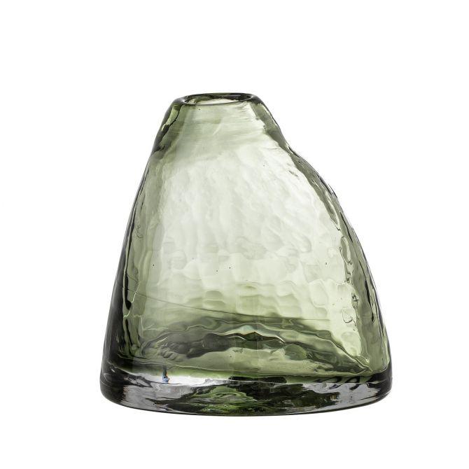 Bloomingville Vase Ini Glas Grün. Glasvase H 13cm. Skandinavische Blumenvasen und Deko bei nicenordic.de