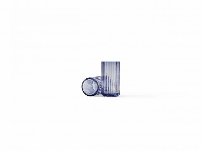 Lyngby Porcelæn Lyngby Vase Glas 15 cm Midnight Blue - nicenordic