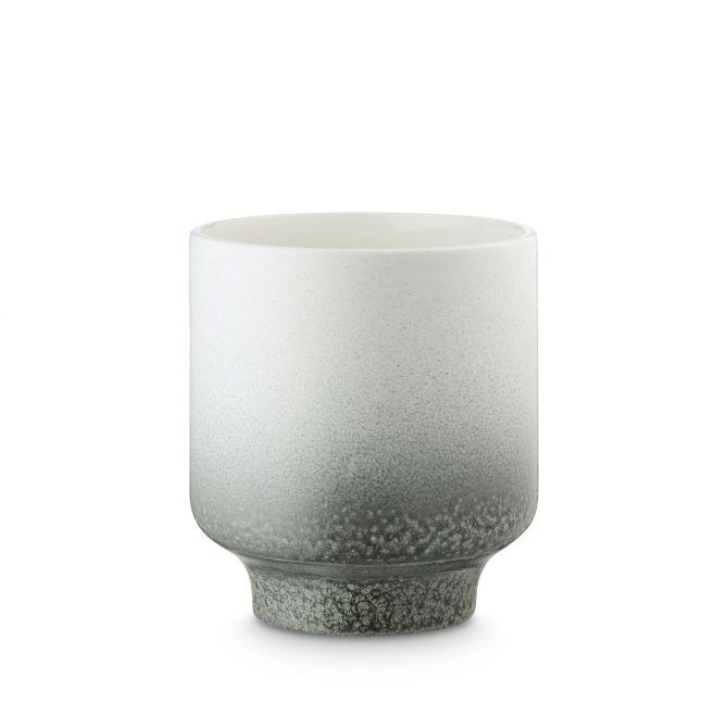 H. Skjalm P. Blumentopf Pauline Weiss Keramik 15 cm Übertopf oder Vase nicenordic.de