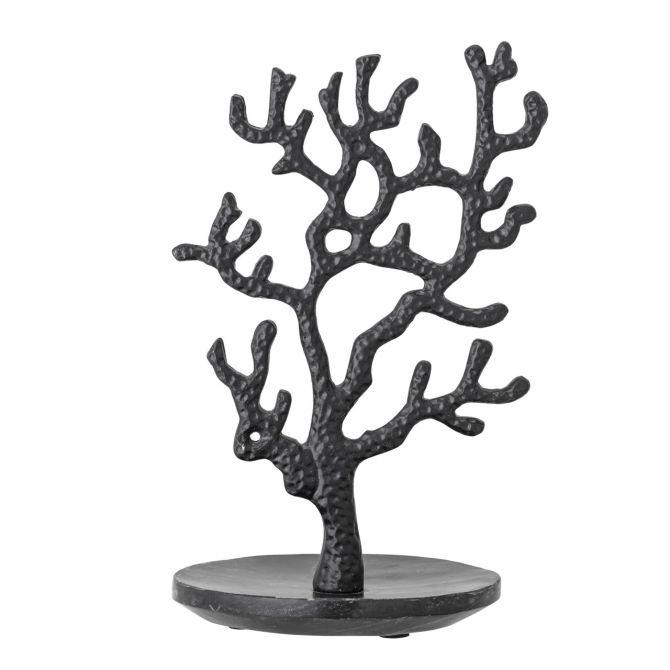Bloomingville Schmuckbaum Schmuckständer Schmuckhalter Schwarz Metall Marmor 28 cm. Deko, Bad- und Wohnaccessoires bei nicenordic.de