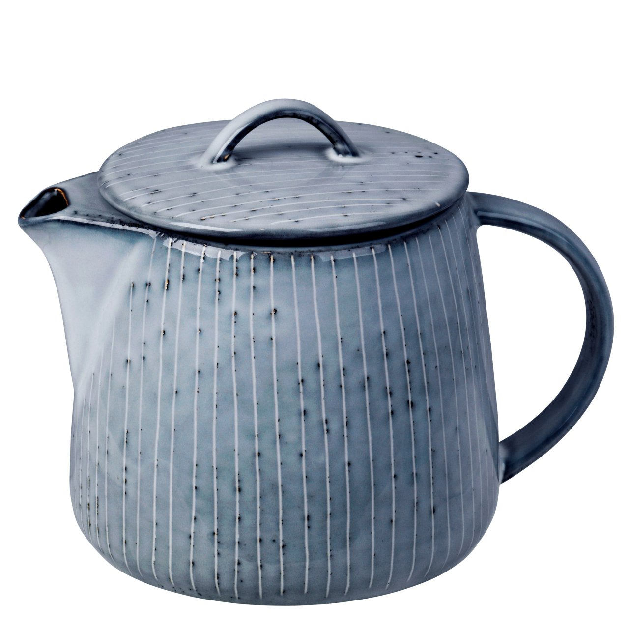 Broste Nordic Sea Teekanne gestreift 20 L blau grau