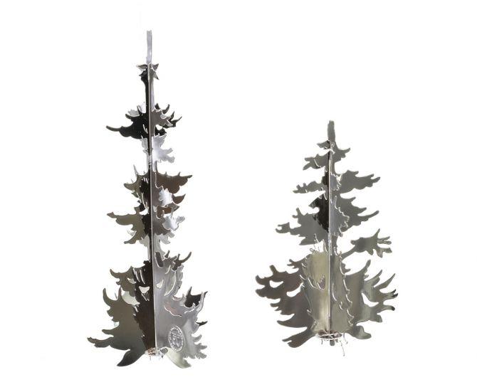 Jette Frölich Winterwald Bäume in Silber 2er-Set_nicenordic_1