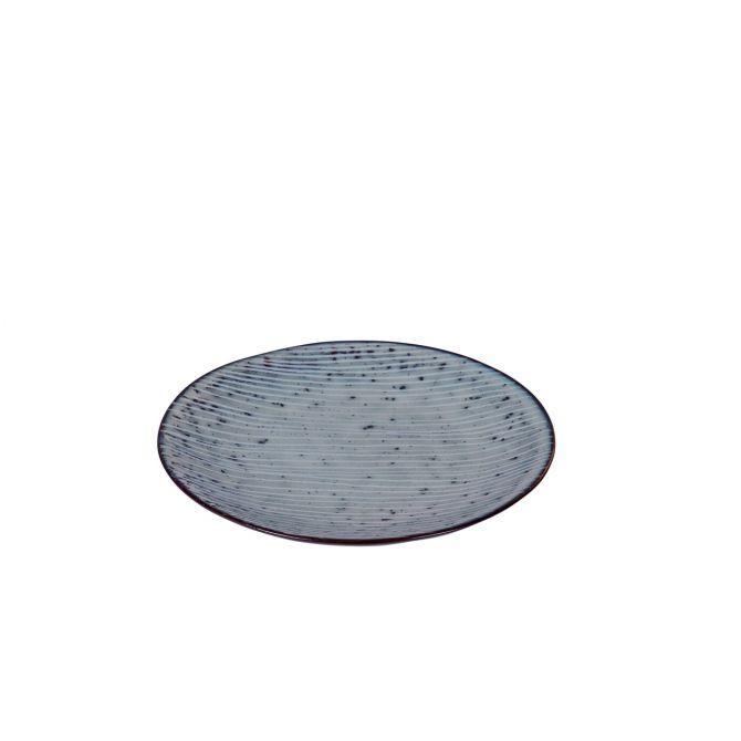Broste Copenhagen Nordic Sea Teller 15 cm blau grau. Dessertteller, Kuchenteller, Beiteller, Brotteller. Keramik - Steingut. Skandinavisches Geschirr für den gedeckten Tisch bei nicenordic.de