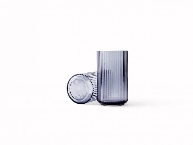 Lyngby Porcelæn Lyngby Vase Glas 25 cm Midnight Blue_nicenordic_1