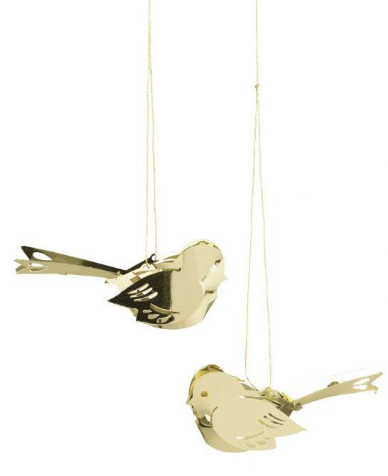 Jette Frölich Miniatur-Vogel Gold - 2er-Set_nicenordic_2