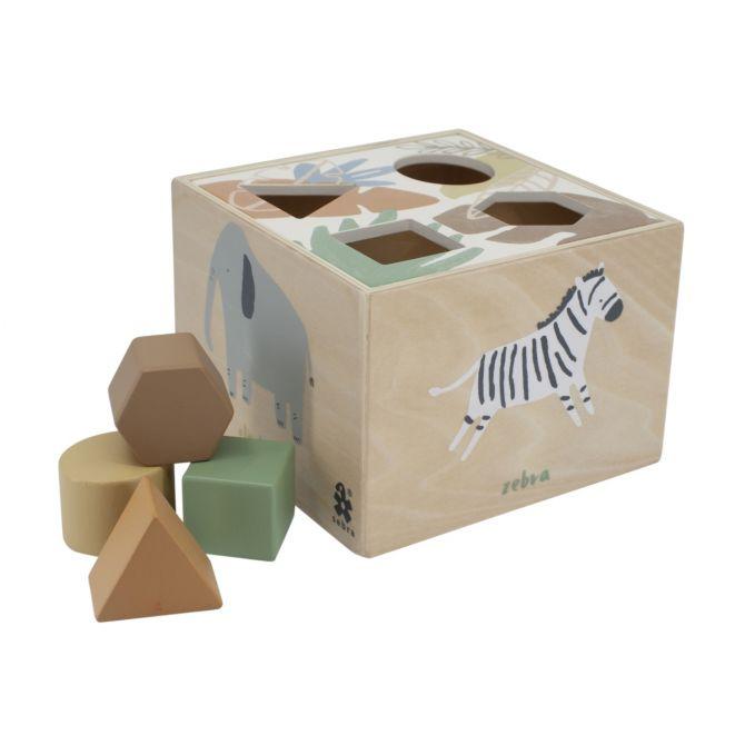 Sebra Formensteckspiel Wildlife aus Holz_nicenordic_1