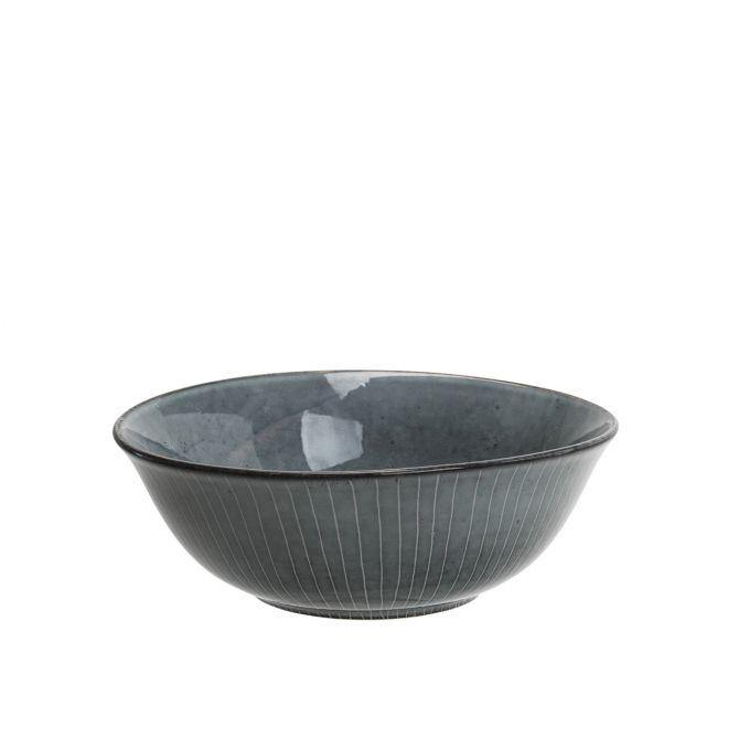Broste Copenhagen Nordic Sea Buddha Schale 21 cm. Schüssel, Servierschüssel. Geschirrserie in blau grau. Keramik bzw. Steingut. Skandinavisches Geschirr bei nicenordic.de