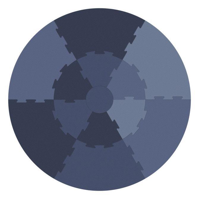 Sebra Spielmatte Rund Schaumstoff Blau