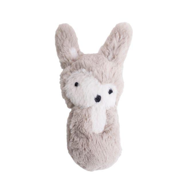 Sebra Plüsch-Rassel Kaninchen beige
