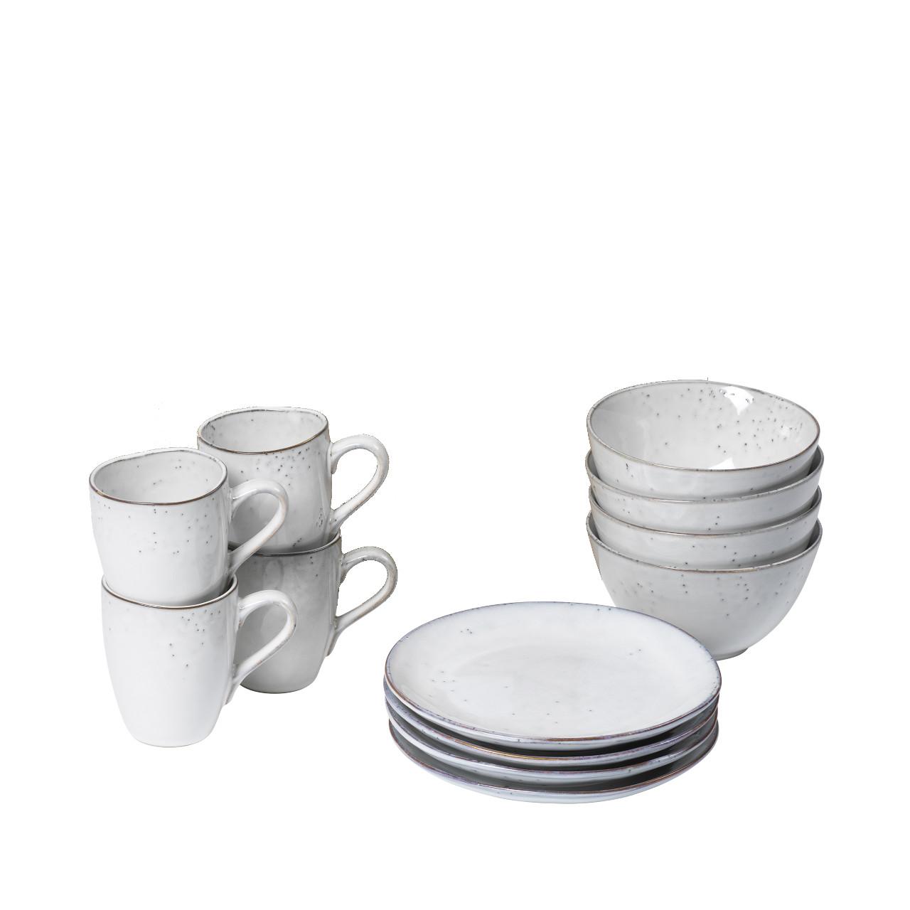 Broste Nordic Sand Geschirr Set Frühstück 20 tlg