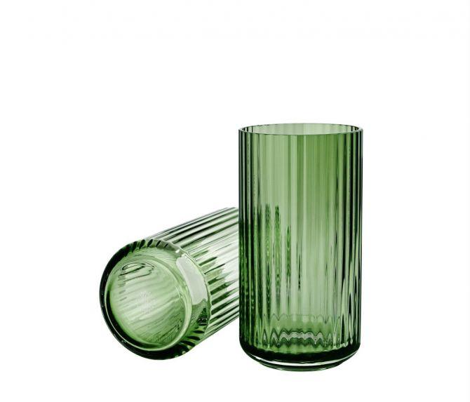 Lyngby Porcelæn Lyngbyvasen Glas grün 20,5 cm