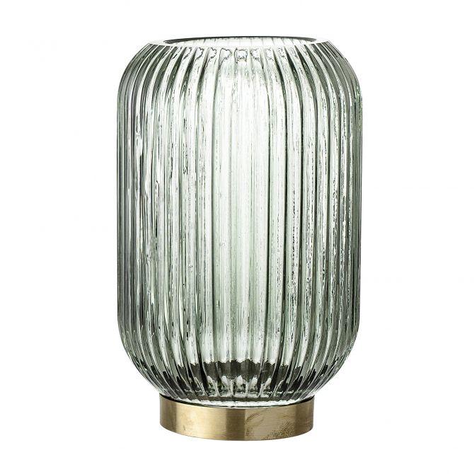 Bloomingville Windlicht Glas Grün 20 cm