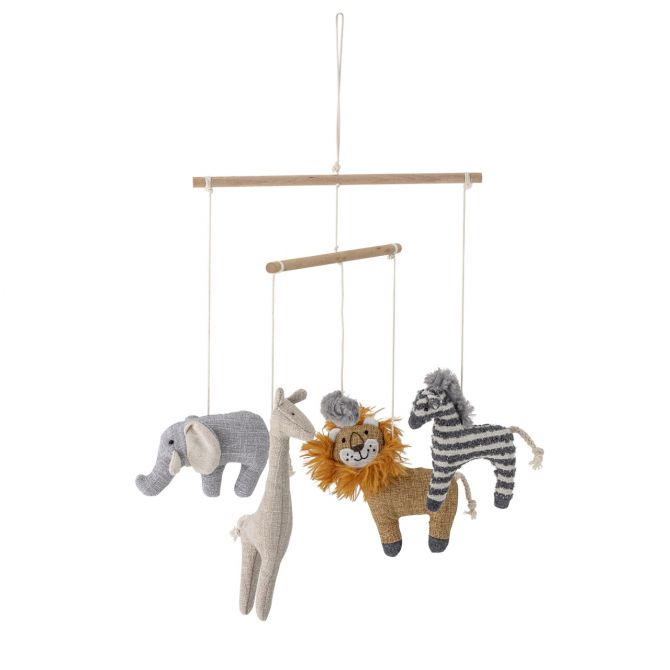 Bloomingville Mobile Safari Zoo-Tiere. Babymobile für das Kinderzimmer. Baby-Spielzeug, Geschenke zum Geburt und Erstausstattung bei nicenordic.de