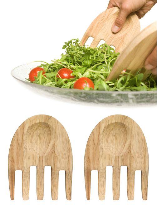 "Sagaform Salatbesteck ""Hands"" Nature"