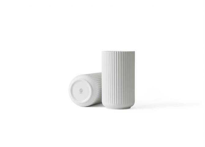 Lyngby Porcelæn Lyngby-Vasen 25 cm matt weiß