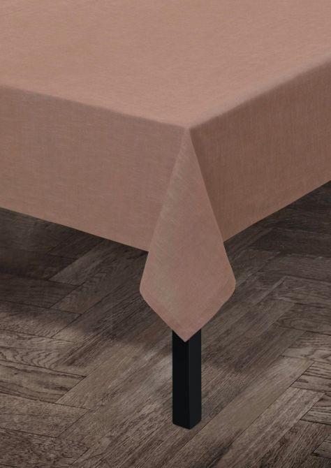 Juna Tischdecke Baumwolle Staub-Rot 150x220 cm_nicenordic_1