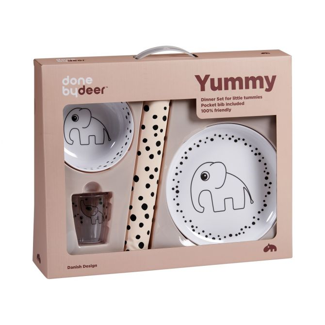 Done by Deer Kindergeschirr-Set Happy dots Puderfarben_nicenordic_1