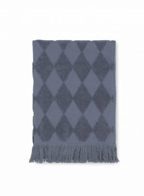 JUNA Handtuch Diamant 50x100 cm, blau