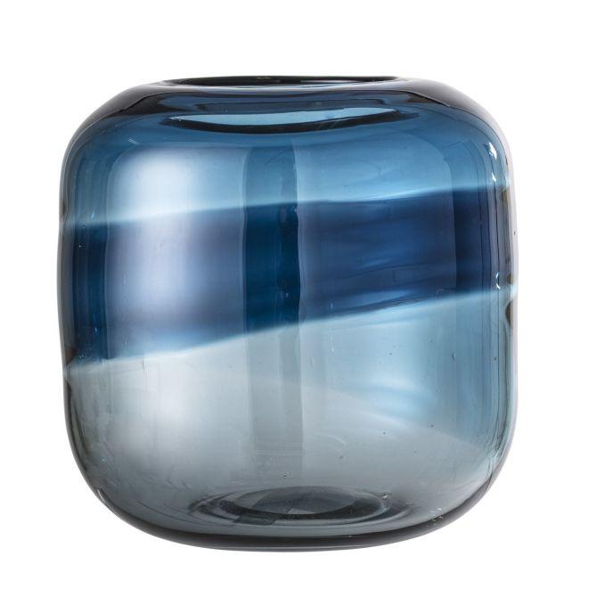 Bloomingville Vase Glas Blau gemustert_nicenordic