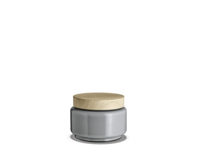 Holmegaard Palet Aufbewahrungsglas hellgrau 1,2 L