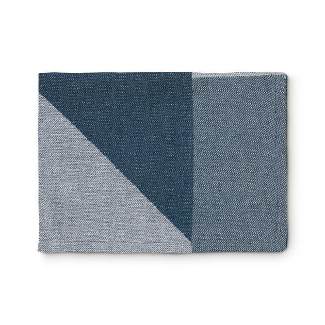 H. Skjalm P. Geschirrtuch Gorm Blau-Weiß
