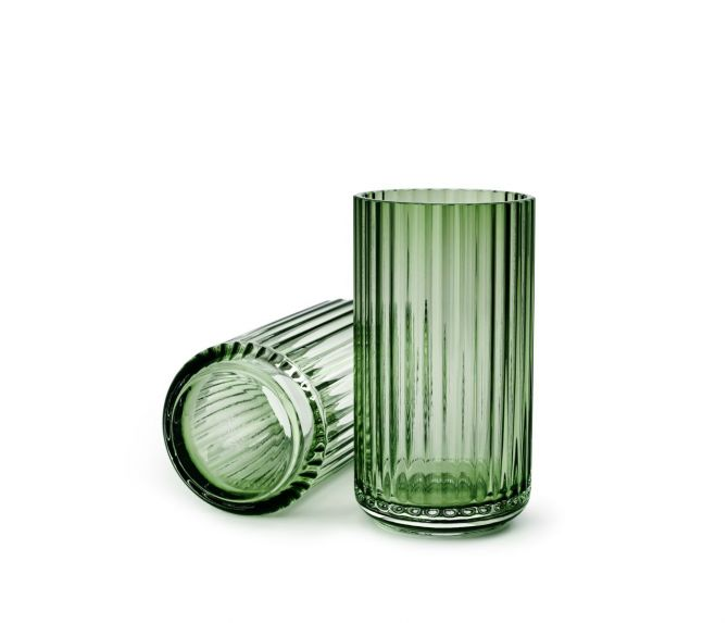 Lyngby Porcelæn Lyngbyvase Glas grün 15 cm_nicenordic_1