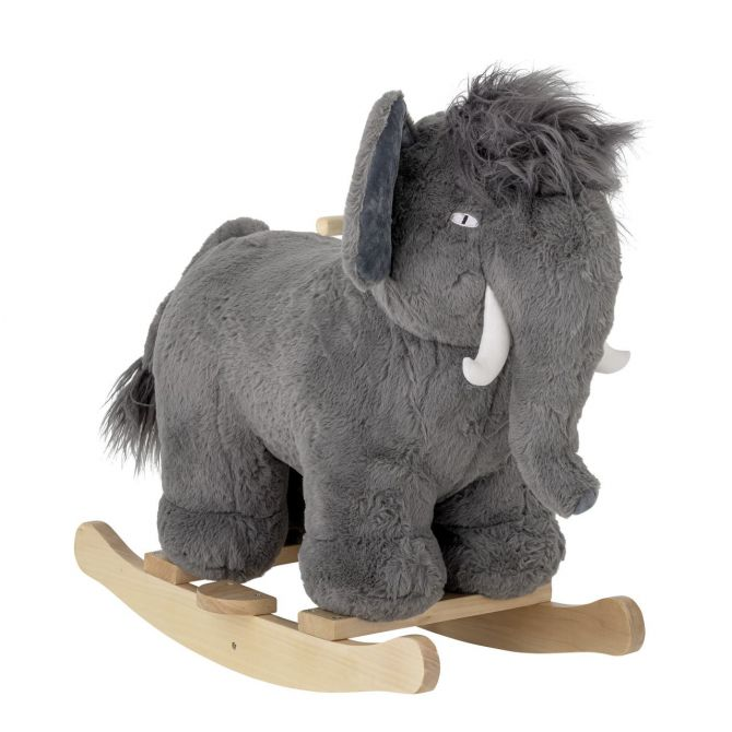 Bloomingville Schaukelpferd Mammut Calma Grau. Schaukeltier aus Pappelholz und Plüsch. Kinder- und Baby-Spielzeug bei nicenordic.de