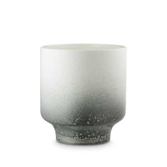 H. Skjalm P. Blumentopf Pauline Weiss Keramik 20 cm, Übertopf oder Vase. Skandinavische Deko bei nicenordic.de