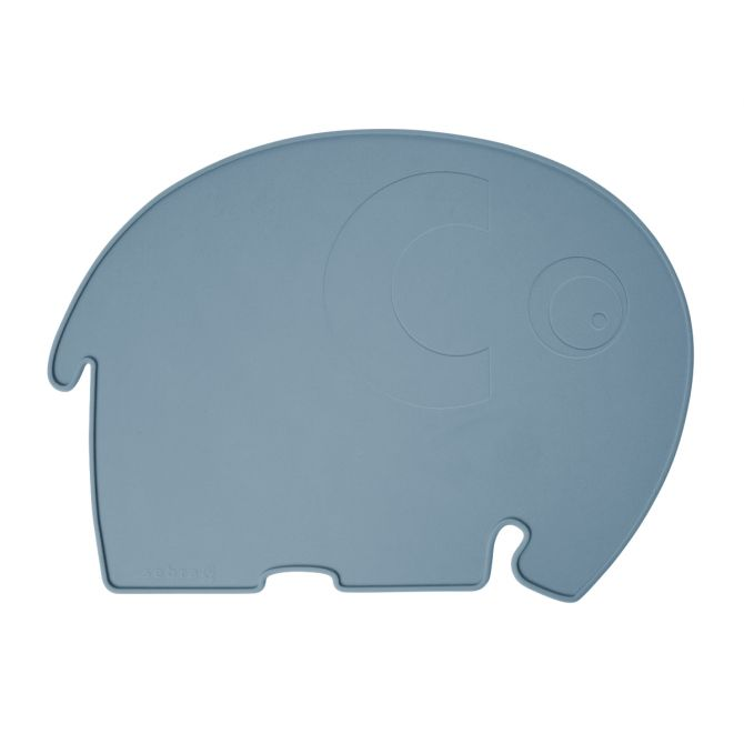 Sebra Tischset Elephant Silikon Blau