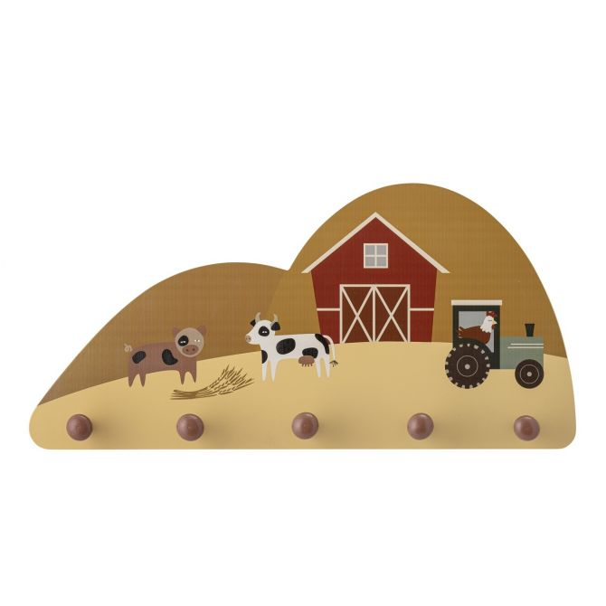 Bloomingville Hakenleiste Kinder-Garderobe Bauernhof. Garderobenleiste Billy aus Holz für das Kinderzimmer. Wandgarderoben, Kleiderhaken und Kinderzimmer-Deko bei nicenordic.de