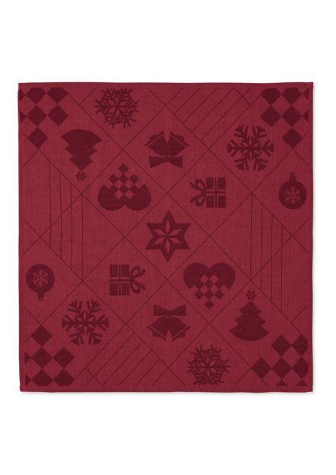 Juna Natale Weihnachts-Stoffserviette Rot 45x45cm 4er-Set_nicenordic_1