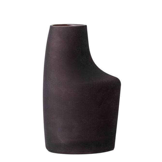 Bloomingville Vase Anda matt Braun. Blumenvase aus Glas. Skandinavische Glasvasen und Deko bei nicenordic.de