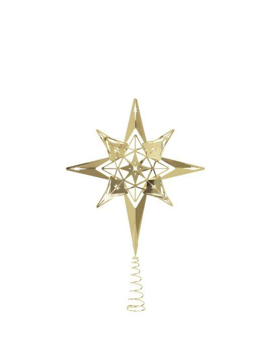 Rosendahl Karen Blixen Christbaumspitze Stern Gold. Weihnachtsbaumspitze, Tannenbaumspitze, Baumspitze und Baumschmuck in Gold. Skandinavischer Weihnachtsschmuck und Weihnachtsdeko bei nicenordic.de