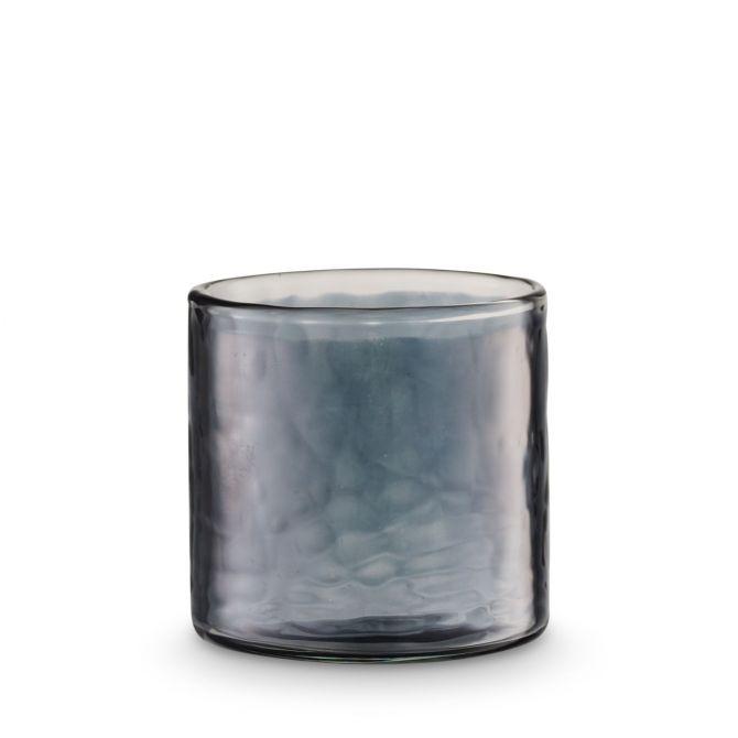H. Skjalm P. Teelichthalter Luster Glas Grau 7 cm_nicenordic_1