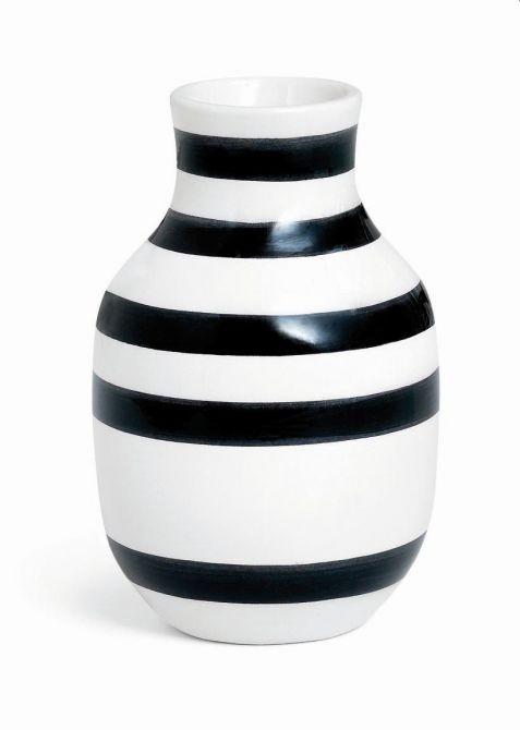 Kähler Omaggio Vase Schwarz 12,5 cm