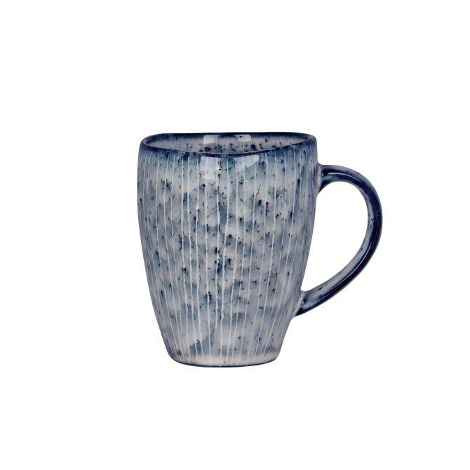 Broste Copenhagen Nordic Sea Tasse blau grau. Becher mit Henkel. Keramik - Steingut. Skandinavisches Geschirr für den gedeckten Tisch bei nicenordic.de