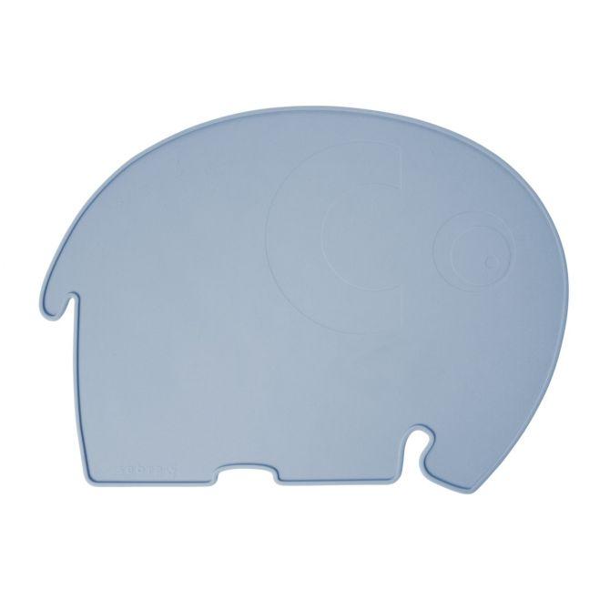 Sebra Tischset Fanto der Elefant Silikon Hell-Blau_nicenordic_1
