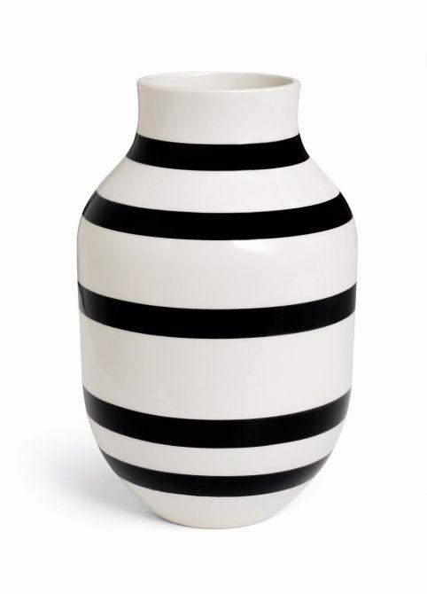 Kähler Omaggio Vase Schwarz H31 cm - nicenordic