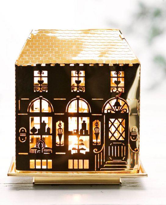 Jette Frölich Teelicht Laternenhaus Gold_nicenordic