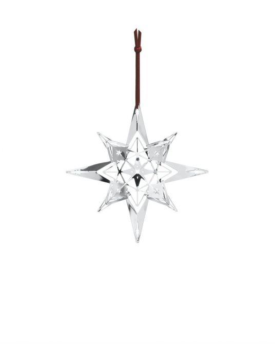 Rosendahl Weihnachtsstern Karen Blixen versilbert 13 cm. Baumschmuck in Silber, edle Weihnachtsdeko und skandinavischer Weihnachtsschmuck bei nicenordic.de