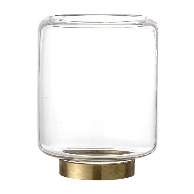 Bloomingville Teelichthalter Glas klar