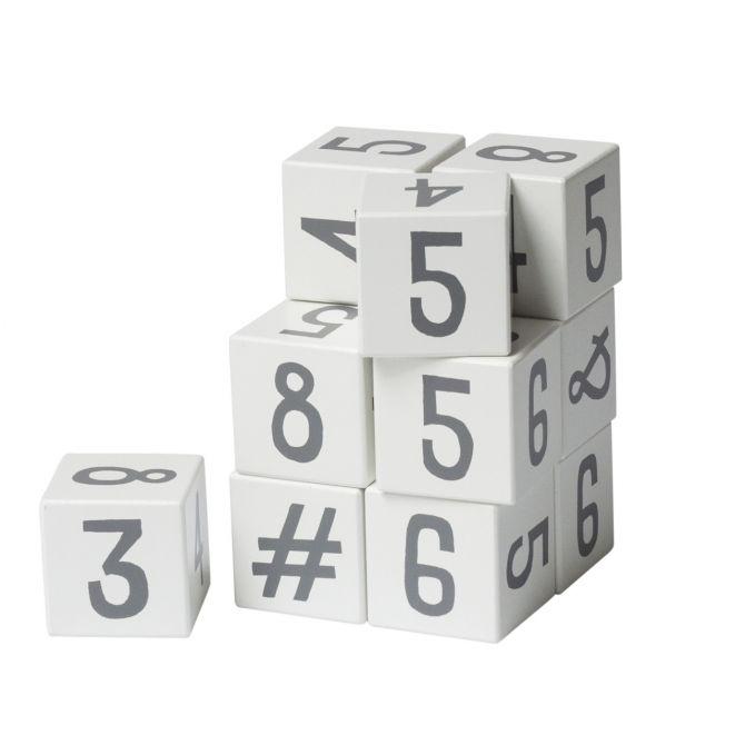 Sebra Zahlenblöcke Zahlenklötze 12-tlg Weiß. Blöcke aus Holz. Holzspielzeug Klötze. Baby- und Kinderspielzeug sowie Babyausstattung bei nicenordic.de