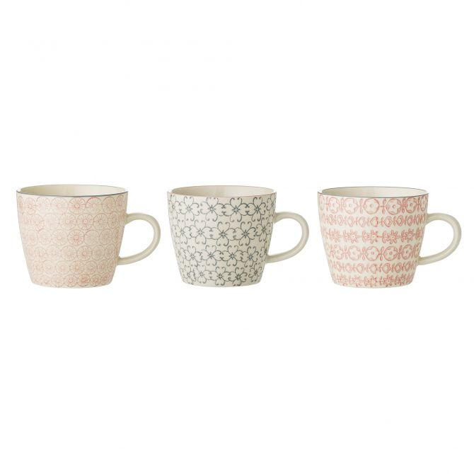 Bloomingville Tasse Cécile 3-er Set 300 ml