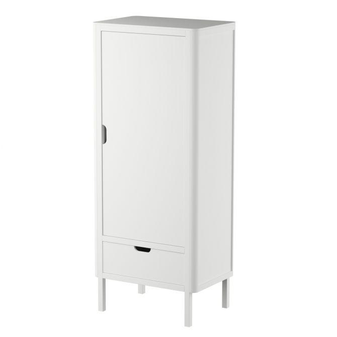 Sebra Kleiderschrank 1-türig Weiss Kinderkleiderschrank mit einer Tür. Kindermöbel bei nicenordic.de