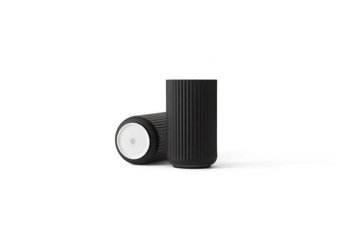Lyngby Porcelæn Lyngby-Vase 25 cm schwarz_nicenordic_1
