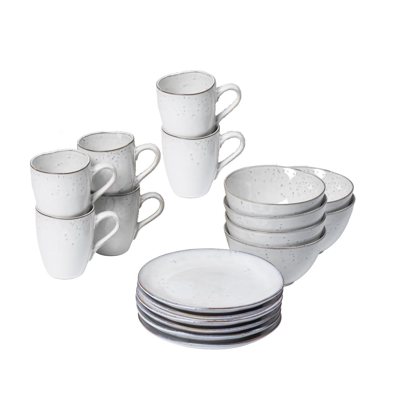Broste Nordic Sand Geschirr Set Frühstücksset 20 tlg 20 Pers