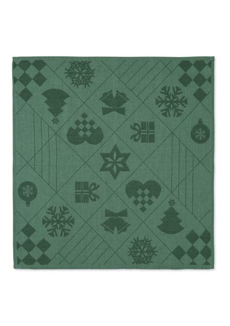 Juna Natale Weihnachts-Stoffserviette Grün 45x45cm 4er-Set_nicenordic_1